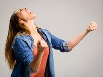 愉快的妇女 免版税图库摄影