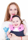 愉快的妈妈和女儿 免版税库存照片