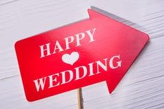 愉快的婚礼的照片摊 库存照片