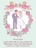 愉快的婚礼 也corel凹道例证向量 新娘仪式花婚礼 婚姻的i 库存照片