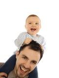 愉快的婴孩他的人 免版税库存图片