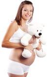 愉快的孕妇 库存照片