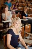 愉快的学员年轻人 免版税库存照片