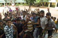 愉快的学校孩子印度 免版税库存图片