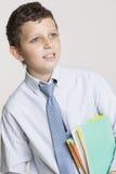 愉快的学生准备好学校 免版税库存照片