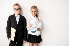 愉快的孩子充满信心 免版税库存图片