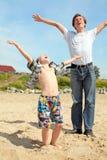 愉快的孩子少年 免版税库存图片