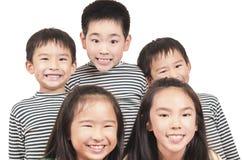 组愉快的孩子 库存图片