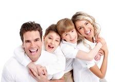 愉快的家庭。 免版税库存图片