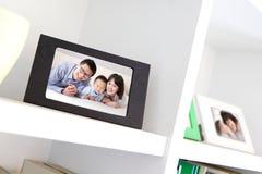 愉快的家庭照片 免版税库存图片