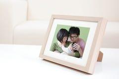 愉快的家庭照片 库存图片