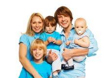 愉快的家庭的五位亲属 图库摄影