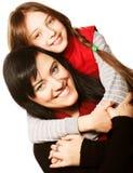 愉快的家庭-母亲和女孩 免版税库存图片