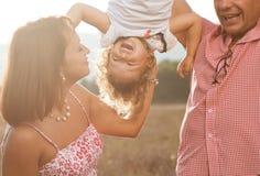 愉快的家庭 图库摄影