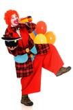 愉快的小丑 免版税库存图片