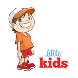 愉快的小孩动画片,传染媒介例证 免版税库存照片