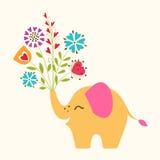愉快的小的大象 免版税库存图片