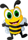 愉快的小的蜂动画片 库存照片