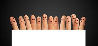 愉快的小组手指 免版税库存照片