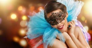 愉快的屏蔽化妆舞会新年度 图库摄影