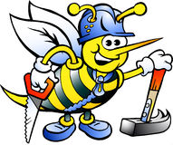 愉快的工作的木蜂 免版税库存图片