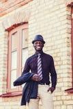愉快的年轻非洲黑人人 图库摄影