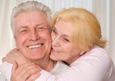 愉快的年长夫妇 库存照片