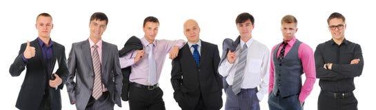 愉快的微笑的企业队 免版税库存照片