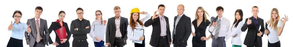 愉快的微笑的企业队 免版税库存图片