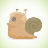 愉快的微笑的蜗牛 免版税库存照片