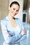 一名确信的年轻女实业家的画象 免版税库存照片