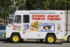 愉快的心情冰淇凌卡车在布鲁克林 库存照片