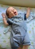 愉快的快乐的婴孩 免版税图库摄影