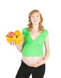 愉快的怀孕的年轻人 库存照片