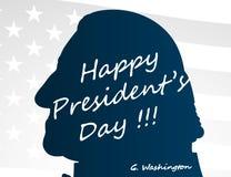 愉快的总统Day创造性的例证、海报或者横幅!- 2月19日 库存照片