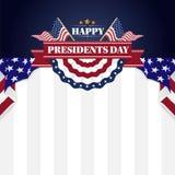 愉快的总统Day Banner Background和贺卡 也corel凹道例证向量 皇族释放例证