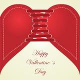 愉快的情人节。爱和心脏(系带)。 免版税库存图片