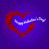 愉快的情人节传染媒介心脏 库存照片