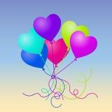 愉快的情人节传染媒介气球心脏 图库摄影