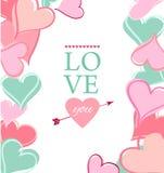 愉快的情人节卡片。 向量例证