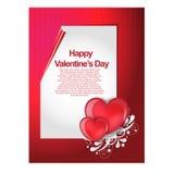 愉快的情人节可爱的卡片 库存图片