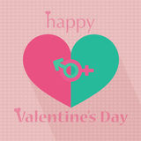 愉快的情人节心脏样式例证 库存照片