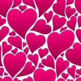 愉快的情人节无缝的样式 向量例证