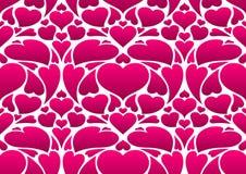 愉快的情人节无缝的样式 库存例证