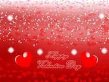 愉快的情人节背景红色 库存图片