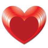 愉快的情人节-红色心脏-背景-贺卡 免版税库存图片