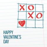 愉快的情人节xoxo greating的卡片 图库摄影