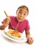 愉快的意大利面食 免版税库存照片