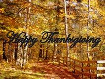 愉快的感恩秋天被说明的问候 库存照片