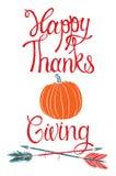愉快的感恩设计卡片 库存图片